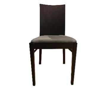 Billiani Italian Vela+ Spinn Fabric Wooden Chair