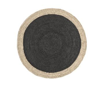 West Elm Bordered Round Jute Area Rug
