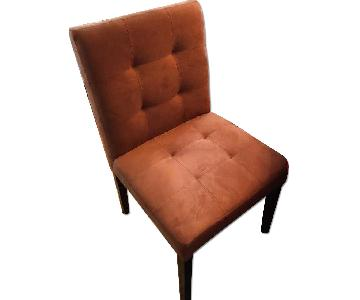 Chocolate Brown Microsuede Dining Chair