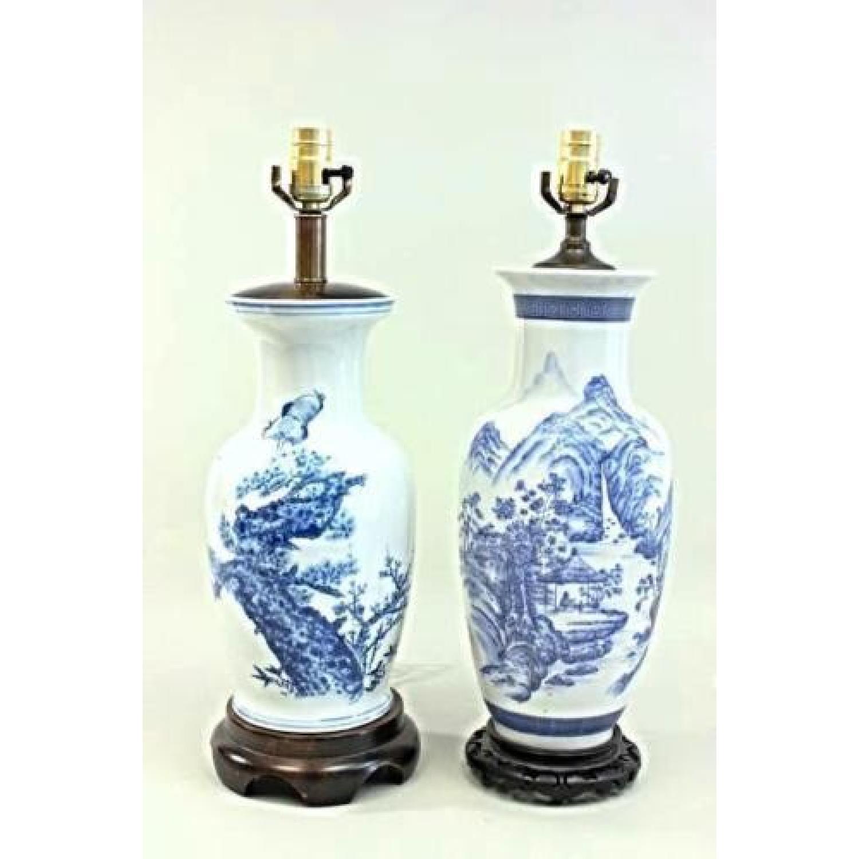 Chinese porcelain blue white vase table lamp aptdeco chinese porcelain blue white vase table lamp 1 reviewsmspy