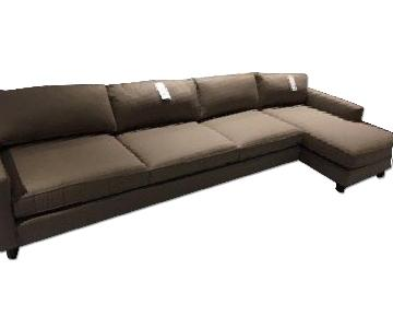 Mitchell Gold + Bob Williams Hunter Sectional in Dark Brown