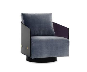 Mitchell Gold + Bob Williams Lucy Swivel Chair in Dark Grey