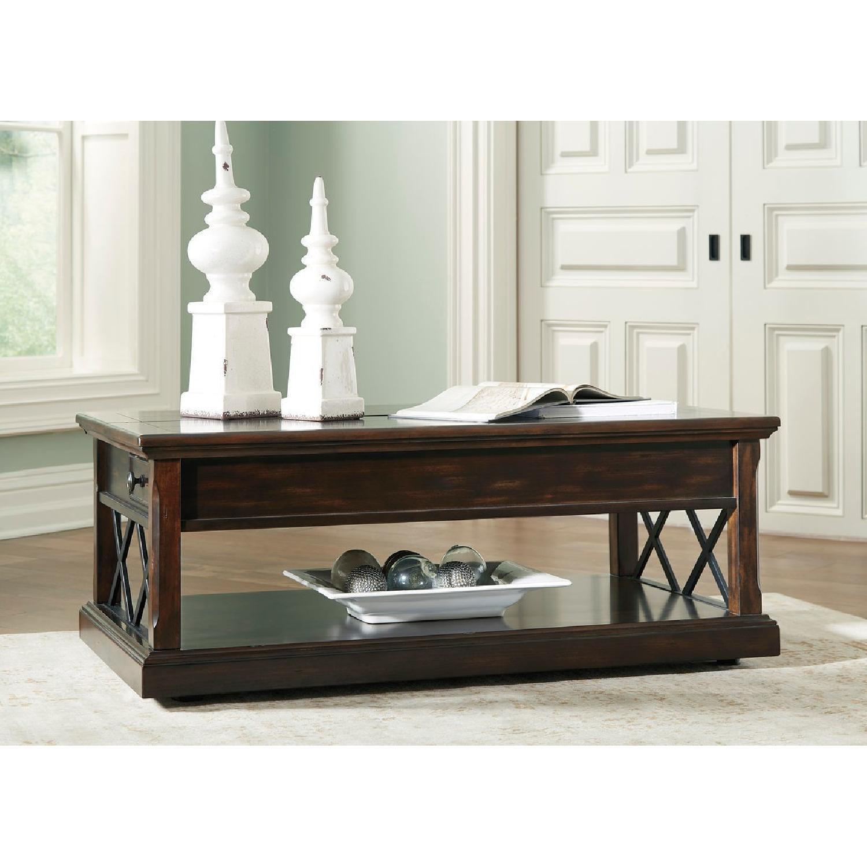 Ashley Furniture Roddinton Brown Lift Top Coffee Table AptDeco