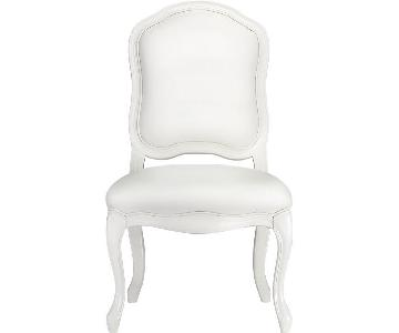 CB2 Stick Around White Side Chair