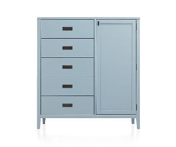 Crate & Barrel Arch Blue Wardrobe