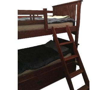 Kids Twin Over Twin Storage Bunk Bed