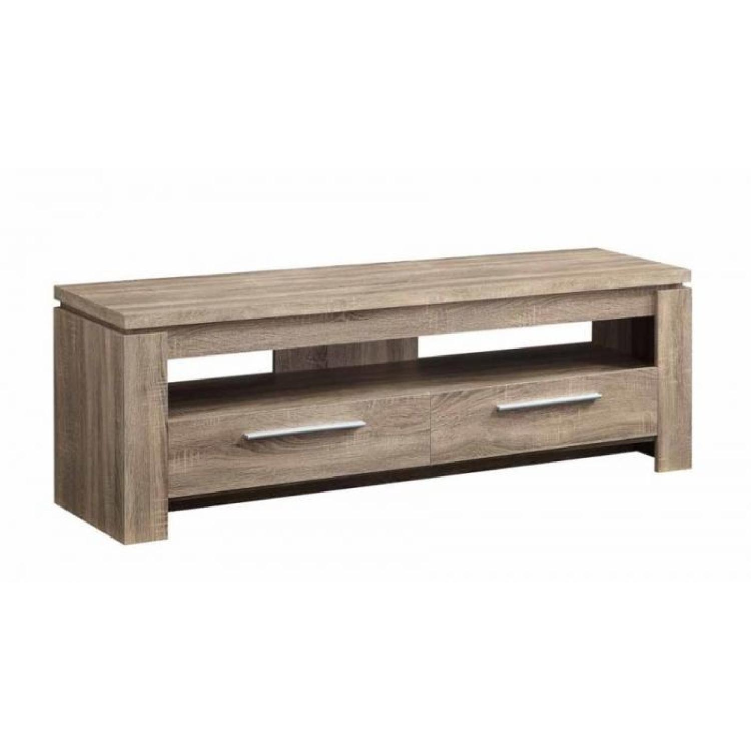 Weathered Brown 2 Drawers TV Console