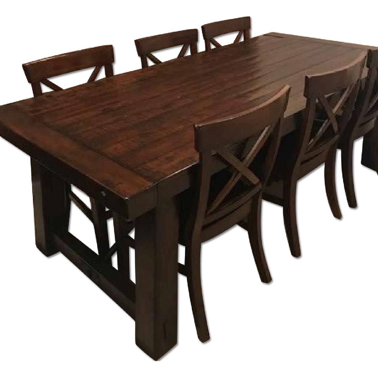 Incroyable Rustic 7 Piece Dining Set ...