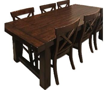 Rustic 7-Piece Dining Set