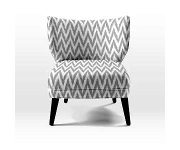 West Elm Chevron Wingback Chair