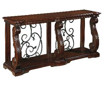 Ashley Furniture Alymere Rustic Brown Console Table