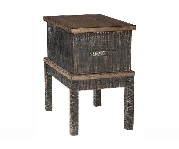 Ashley Furniture Stanah Two-Tone Rectangular End Table