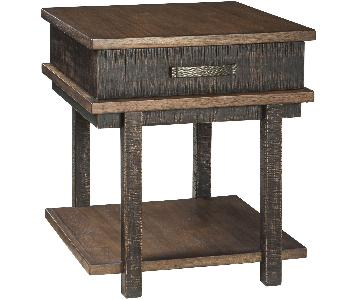 Ashley Furniture Stanah Two-Tone Chair Side End Table