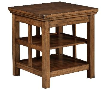 Ashley Furniture Flynnter Medium Brown Square End Table