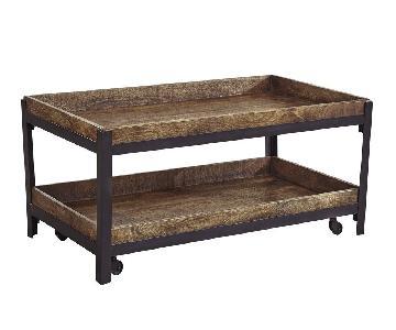 Ashley Furniture VigganiTwo-tone Rectangular Cocktail Table