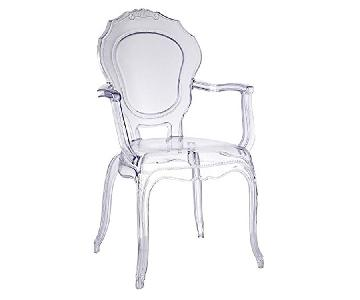 Traditional Style Arm Chair in Clear Polycarbonate