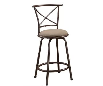Wildon Home Brown Suede Barstool