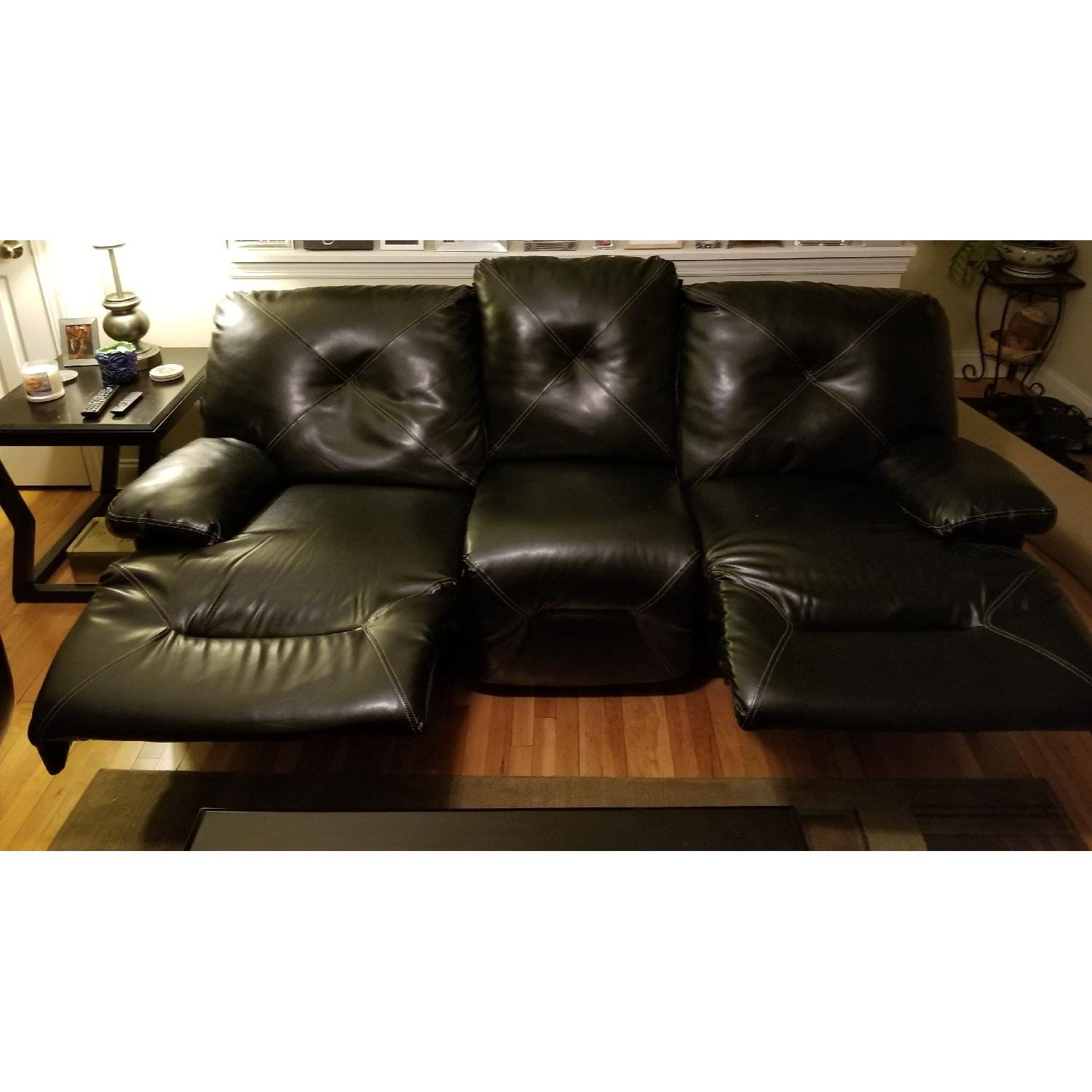 ... Ashley Leather Power Reclining Couch 0 ...