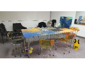Gaetano Pesce Resin Table w/ 6 Chairs
