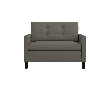 Crate & Barrel Luxe Karnes Twin Sleeper Armchair