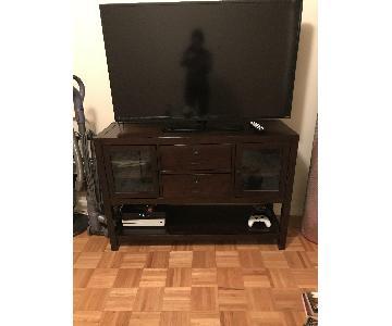 Crate & Barrel Dark Wood TV Stand