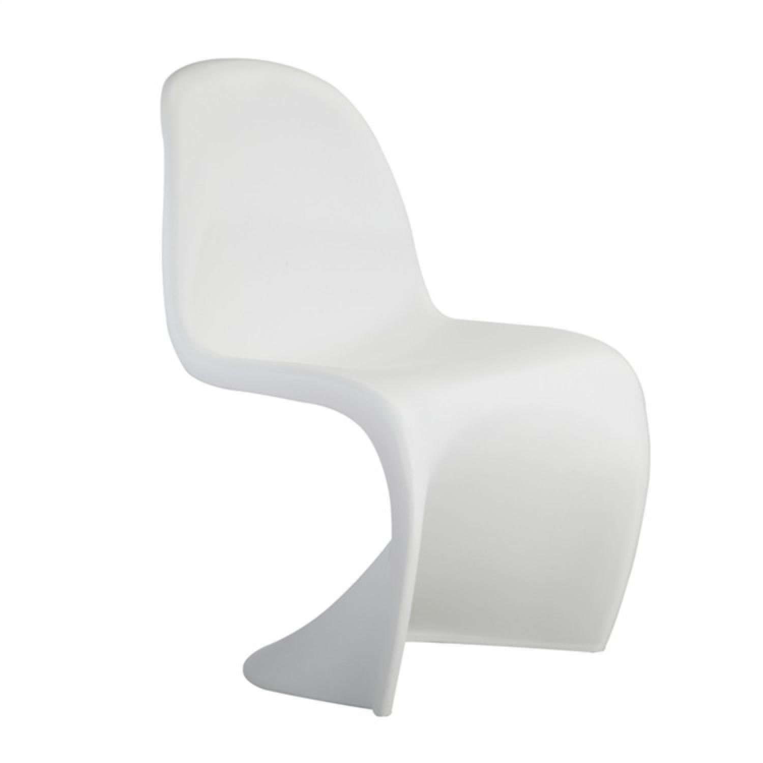 Modern Molded White ABS Indoor/Outdoor Chair ...