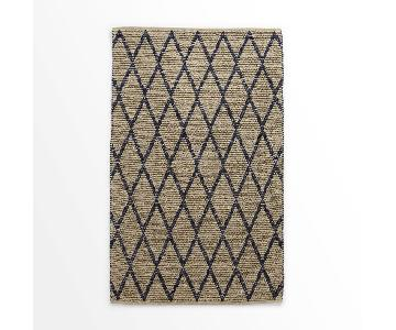 West Elm Knotted Diamonds Wool Area Rug