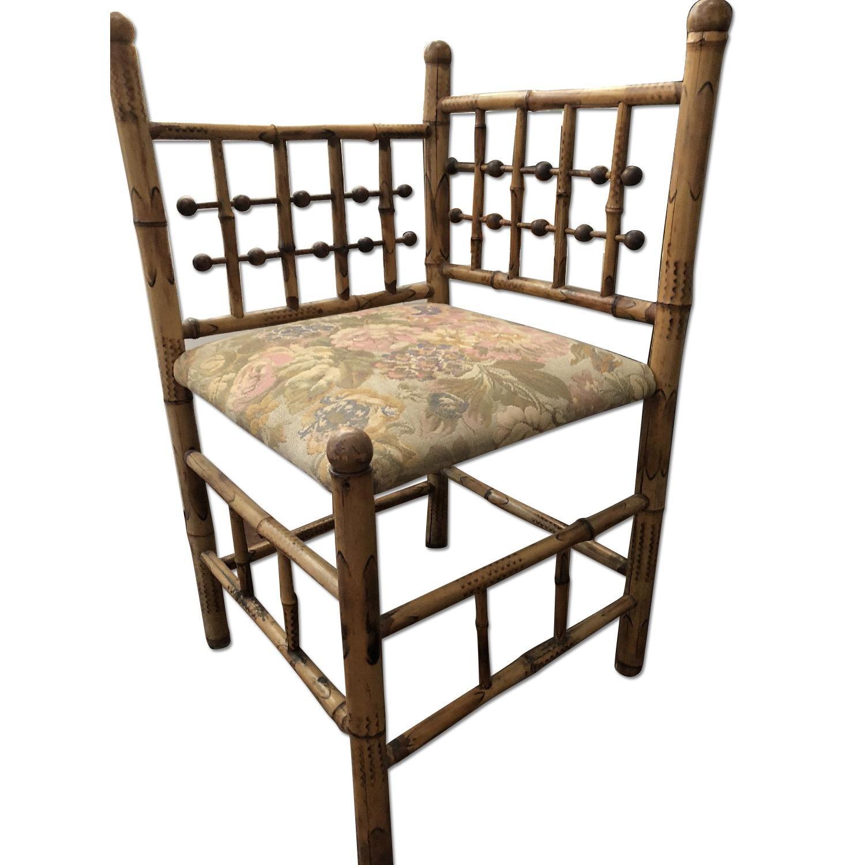 Vintage Victorian Bamboo Corner Chair