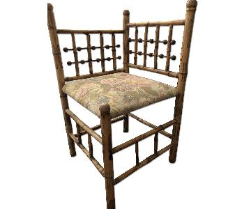 Vintage Victorian Bamboo Corner Chair