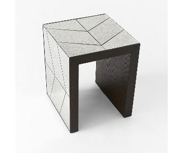 West Elm Herringbone Mirror Side Table