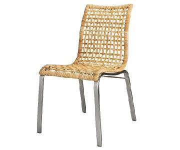 Ikea Danish Style Rattan Back Dining Chair