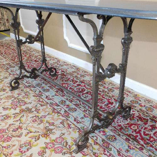 Used Victorian Style 1980s Metal Frame Sofa Console Table for sale on AptDeco