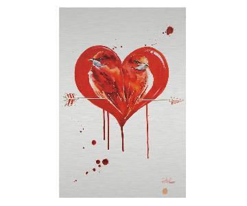 Lora Zombie Framed Print - Love Birds