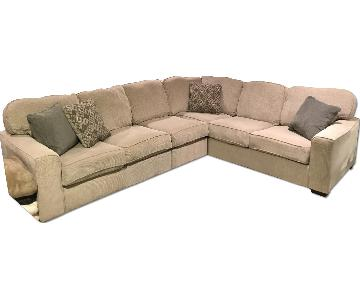 Ashley Microsuede 3 Piece Sectional Sofa