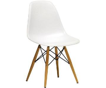 Baxton Studio Mid Century White Plastic Dining Chair