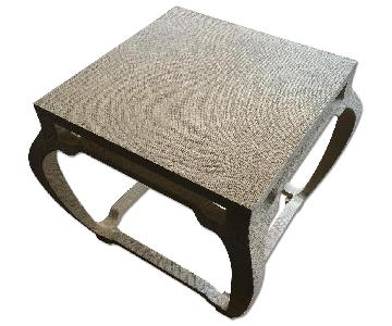 Textured Wood Side Table