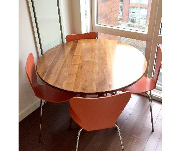 Room & Board Bradshaw Round Dining Table w/ 4 Pike Chairs