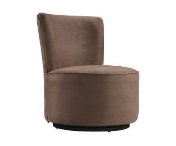 Tribecca Home Modern Round Swivel Chair