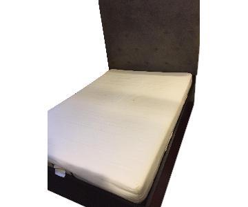 West Elm Solid Wood Bed w/ Storage & Headboard