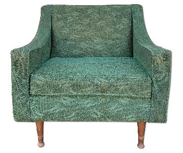 Pilgrim Mid Century Modern Green Upholstered Club Chair