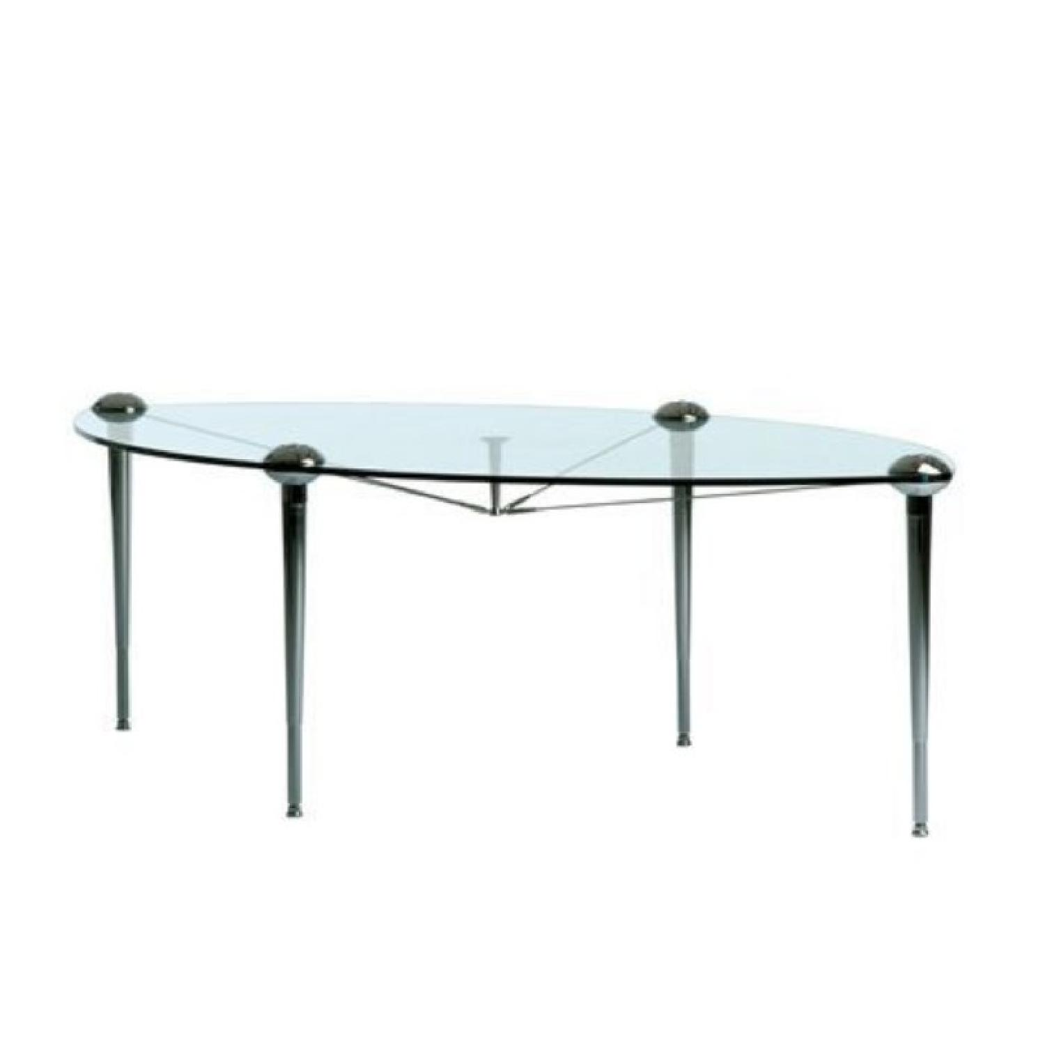 Baleri Italia Hannes Wettstein's Glass Dining Table