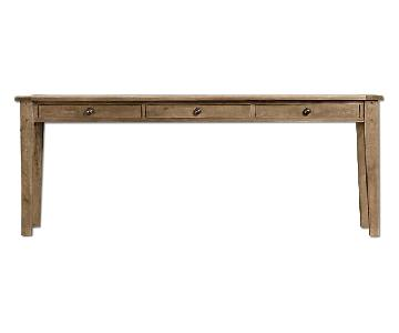 Restoration Hardware 3-Drawer Console Table