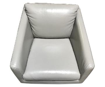 Moroni Jay Leather Chair w/ Chrome Leg