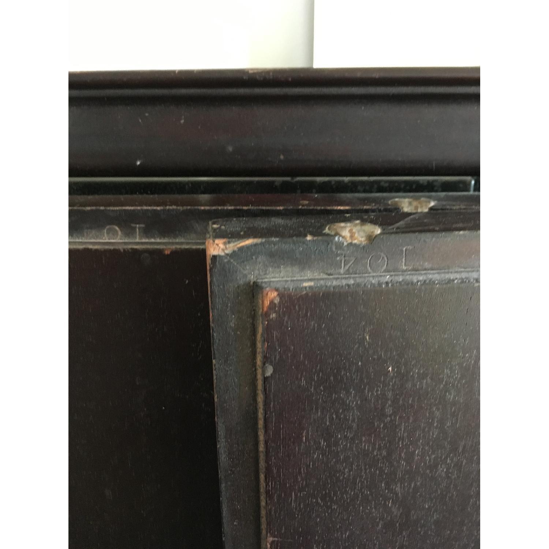 Vintage Wood Tri Fold Dresser/Vanity Mirror-5