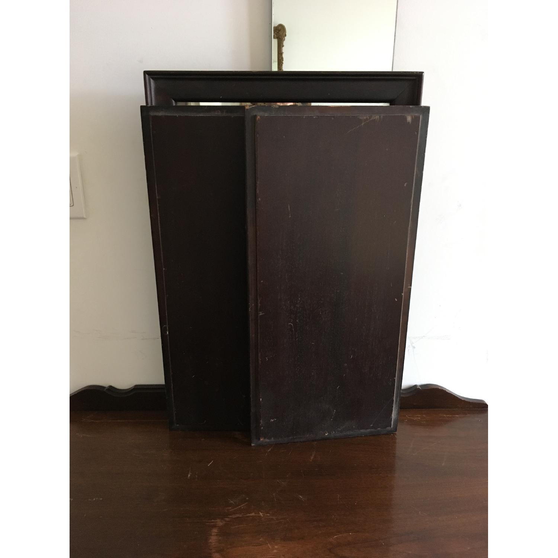Vintage Wood Tri Fold Dresser/Vanity Mirror-6