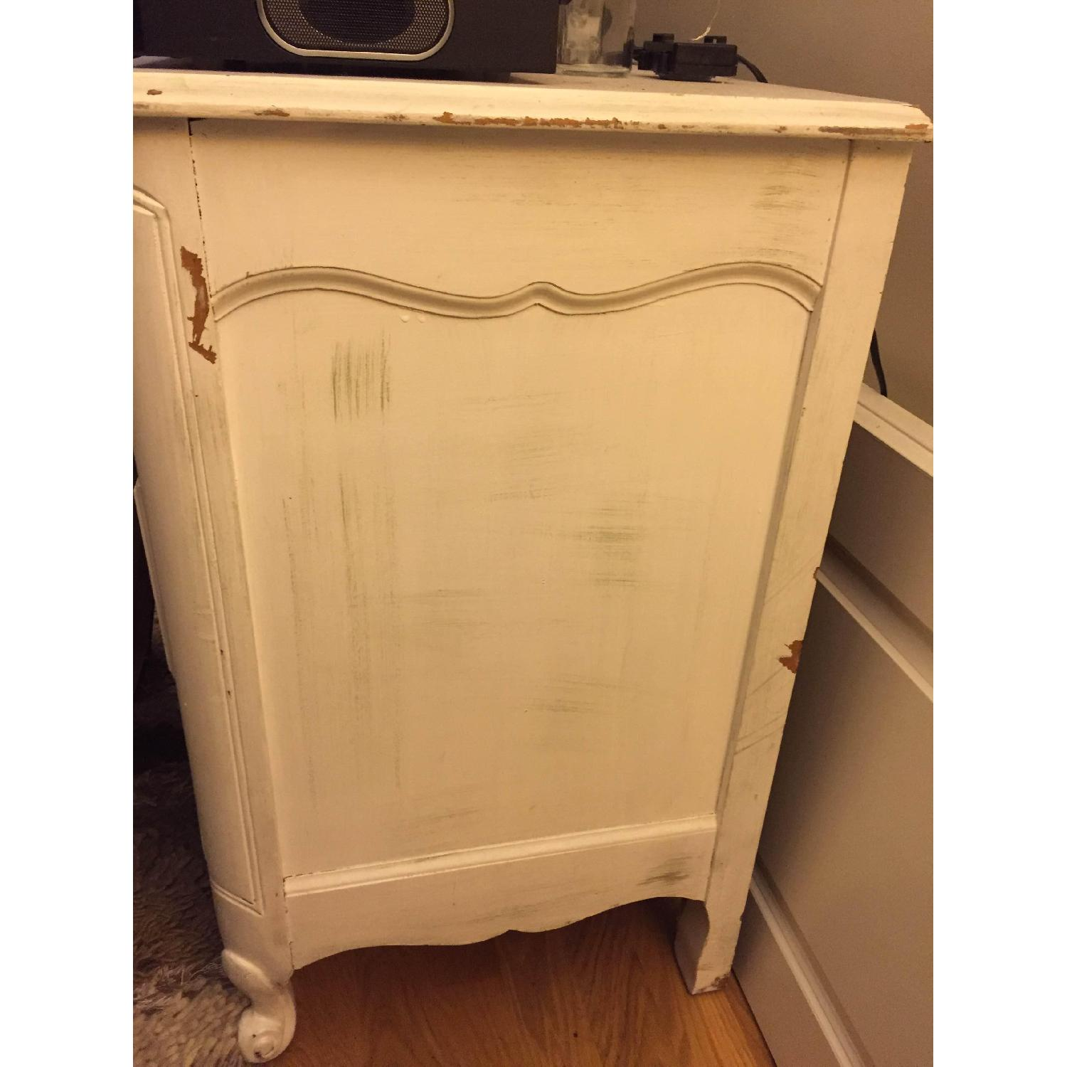 Shabby Chic Antique/Vintage French Provincial White Dresser - image-6