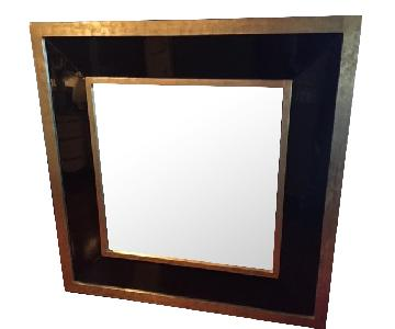 Gold/Black Framed Wall Mirror