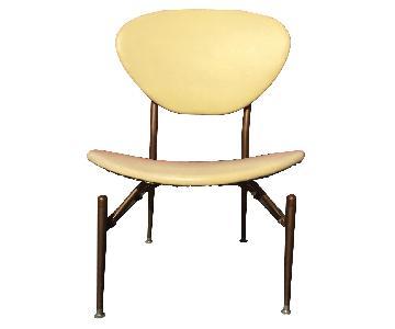 Mid Century Modern Vinyl Chair w/ Round Back