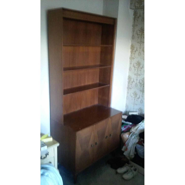 Danish Wooden Bookcase - image-1
