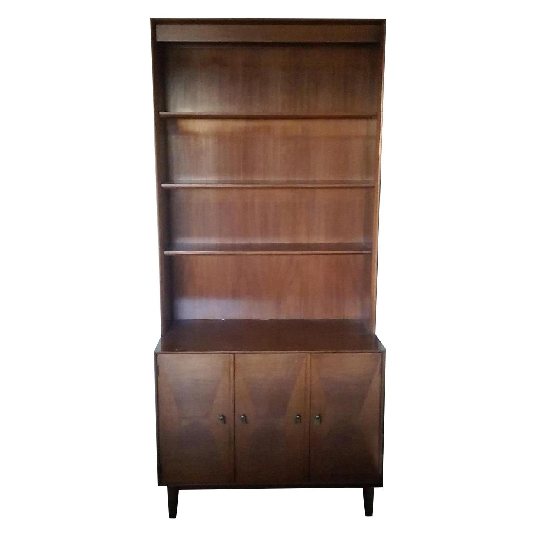 Danish Wooden Bookcase - image-0